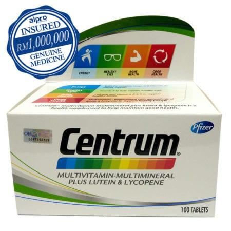 Centrum Multvitamin-multimineral Plus Lutein & Lycopene (100s)