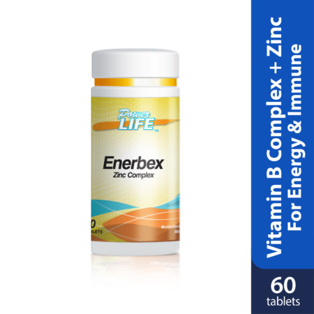 Powerlife Enerbex Zinc is vitamin B complex with zinc, good for energy booster and immunity.