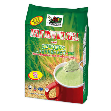 Nature's Own Instant Brown Rice Cereal Spirulina (no Added Sugar) 12x30g
