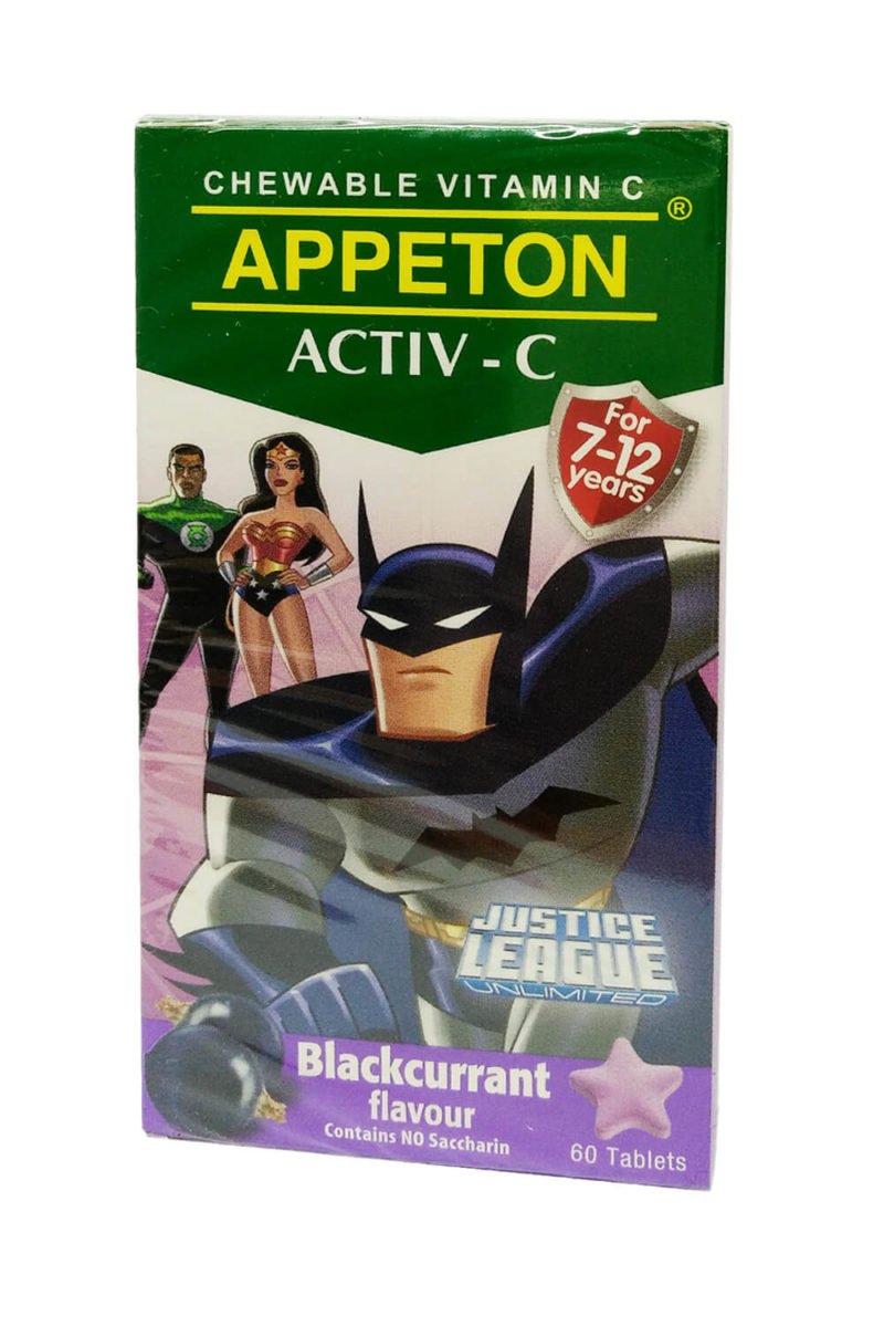 Appeton Activ-c - Blackcurrant (100mg X 60's)