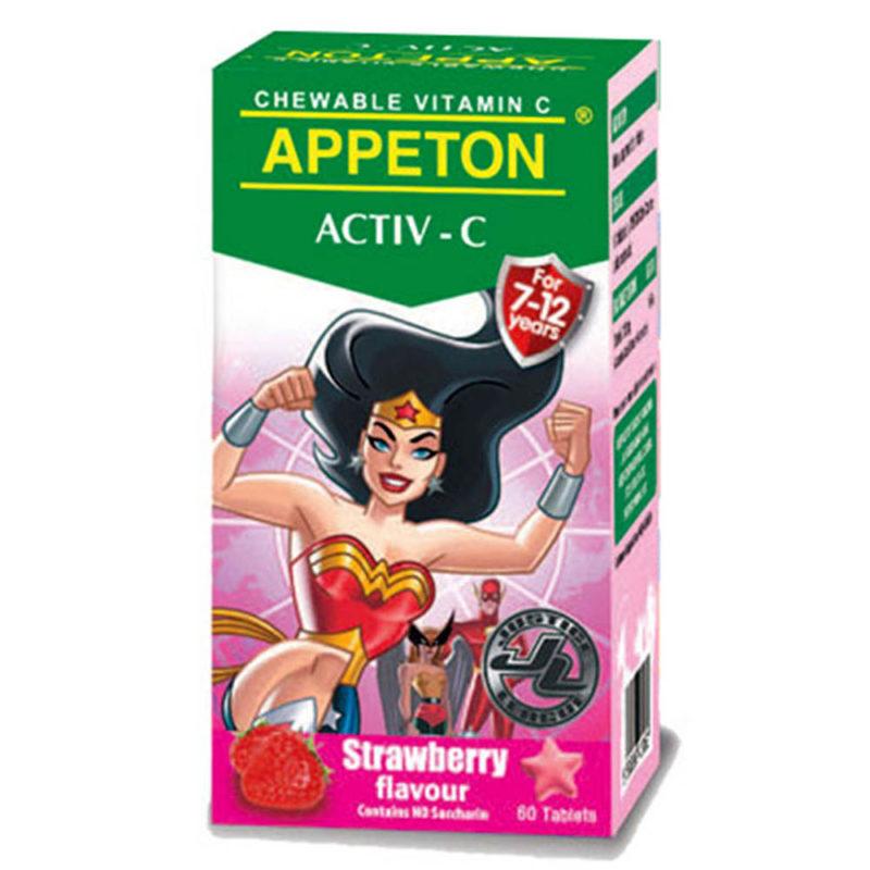Appeton Activ-c 100mg Strawberry 60s