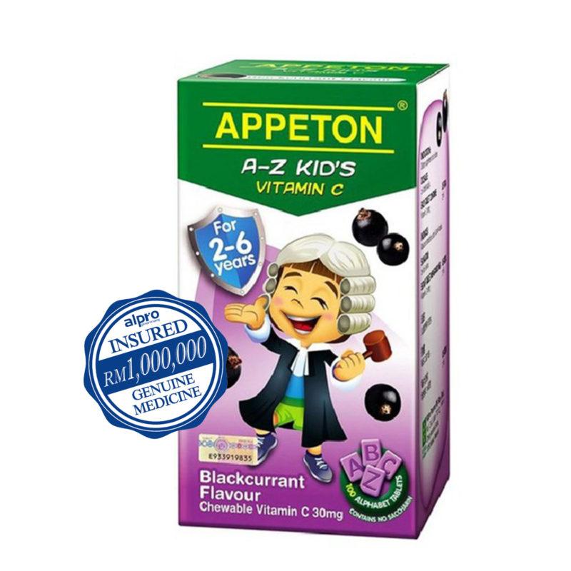 Appeton A-z Kids Vitamin C - Blackcurrant (100s)