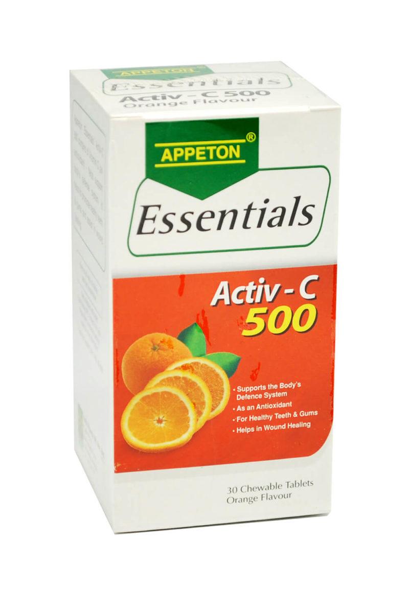 Appeton Essentials Activ-c 500 (30s)