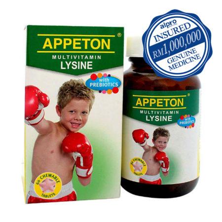 Appeton Multivit. Lysine+prebiotic 60s