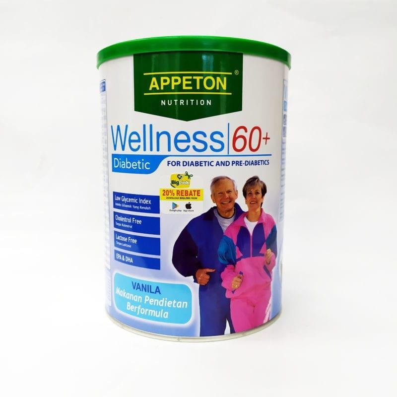 Appeton Wellness 60+ Diabetic Vanilla 900g