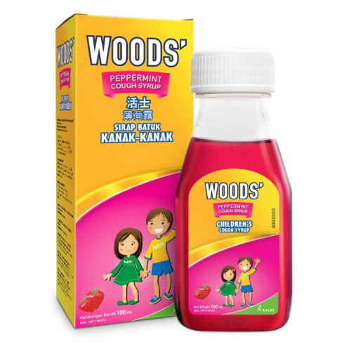 Woods Peppermint Syrup Children 100ml