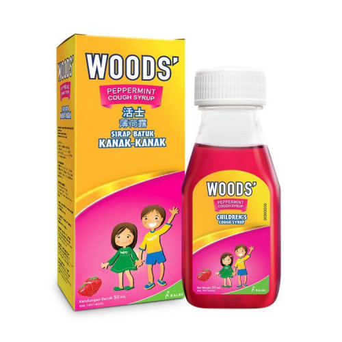WOODS' Peppermint Cough Syrup for Children 50ml