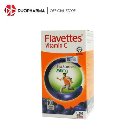 #flavettes Vit.c 250mg Blackcurrant 100s