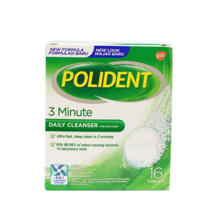 Polident Daily Cleanser For Dentures 3 Minute 16s