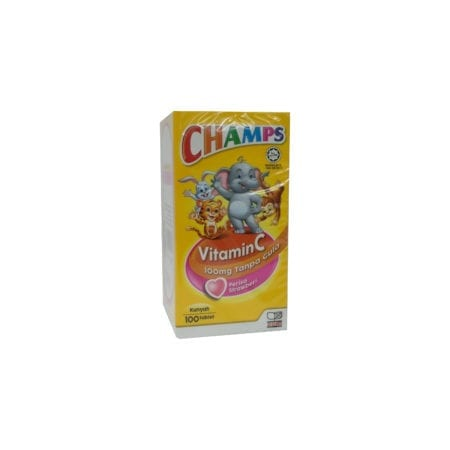 Champs C 100mg Sugar Free Strawberry 100s