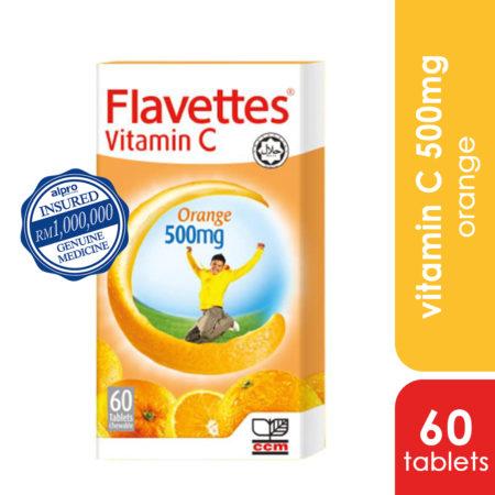 Flavettes Vit.c 500mg Orange 60s