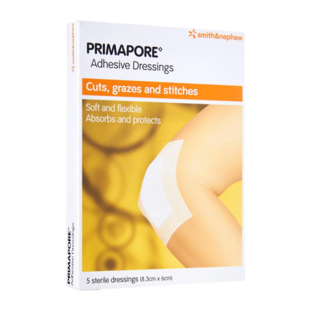 S&n Primapore Conformable Adhesive Dressing 8.3cmx6cm 5s