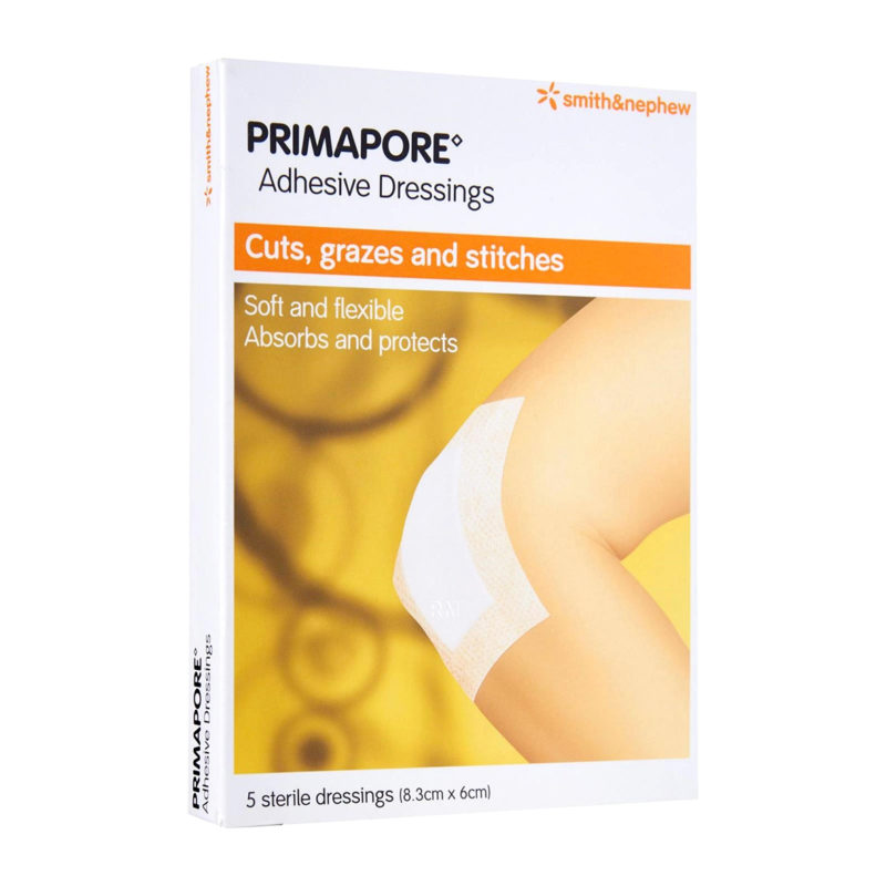 S&n Primapore Conformable Adhesive Dressing 8.3cmx6cm 5s