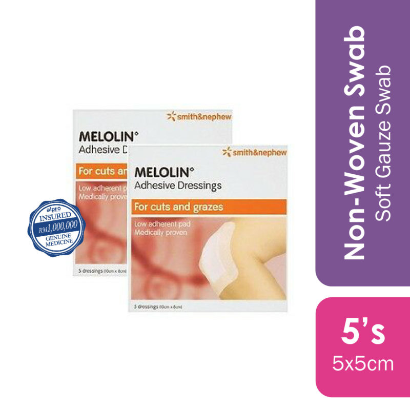 S&n Melolin Low Adherent Absorbent Pad 5cmx5cm 5s