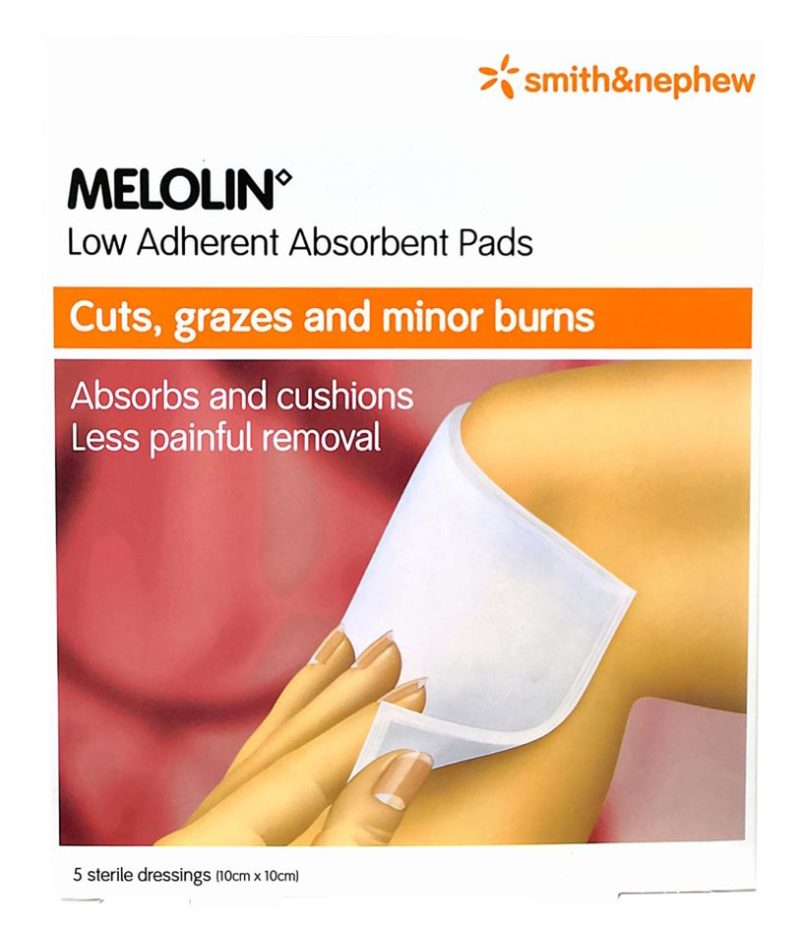 S&n Melolin Low Adherent Absorbent Pad 10cmx10cm 5s