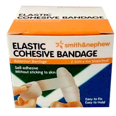 S&n Elastic Cohesive Bandage (stretched) 2.5cmx4m