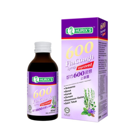 Hurixs 600 Flu Cough Syrup 60ml