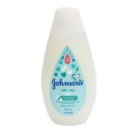 Johnsons Baby Milk + Rice Bath 200ml