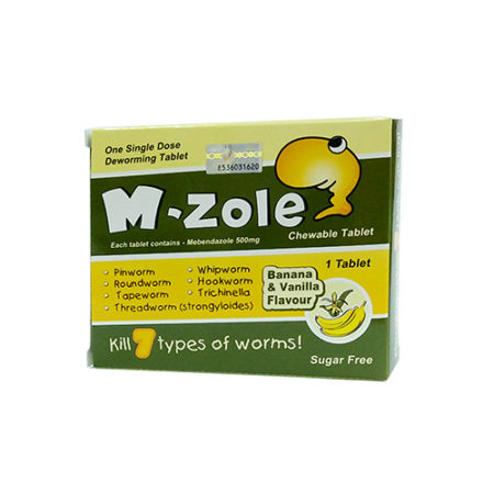 M-zole D-worms Chewable Tablet 1s