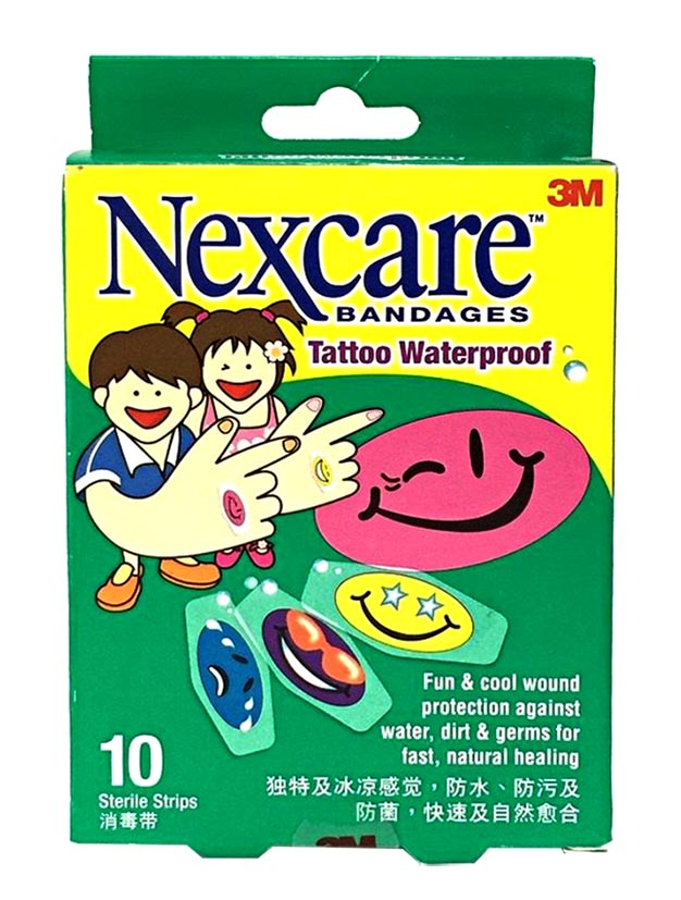 3m Nexcare Bandages Tattoo Waterproof 10s
