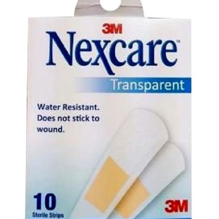 3m Nexcare Bandages Transparent Strips 10s