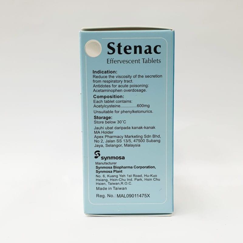Stenac Effervescent 600mg 15x2s