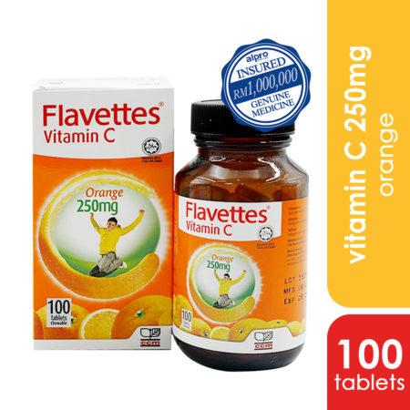 Flavettes Vit.c 250mg Orange 100s