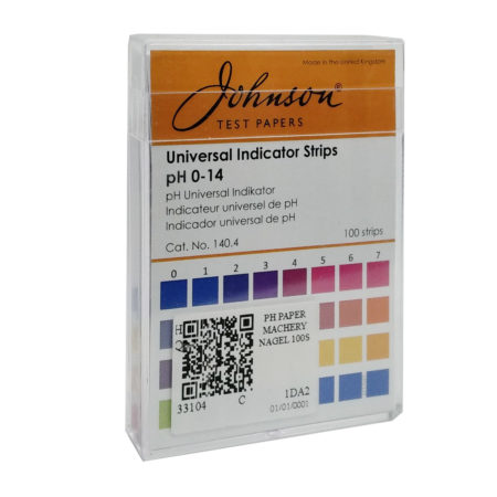 Johnson Test Paper Universal Indicator Strips Ph 0-14 100s