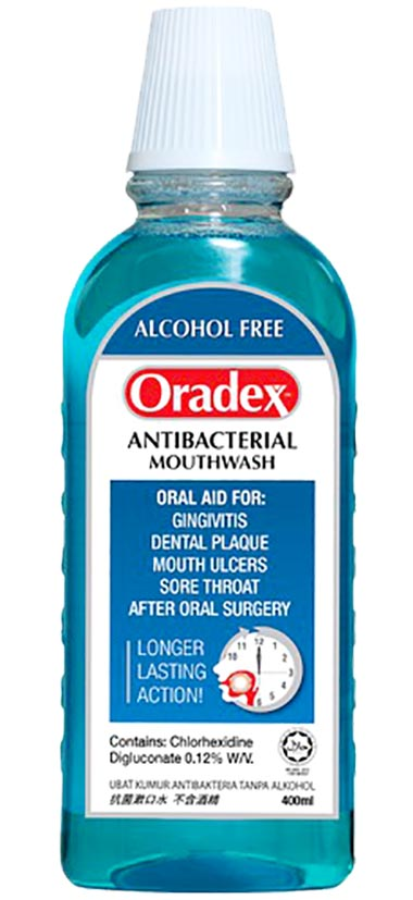 Oradex Antibacterial Mouthwash 400ml