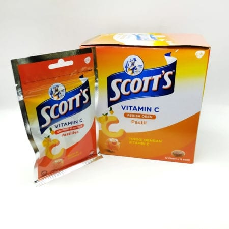 Scotts Vit.c Zipper Pack Orange 30g 12s