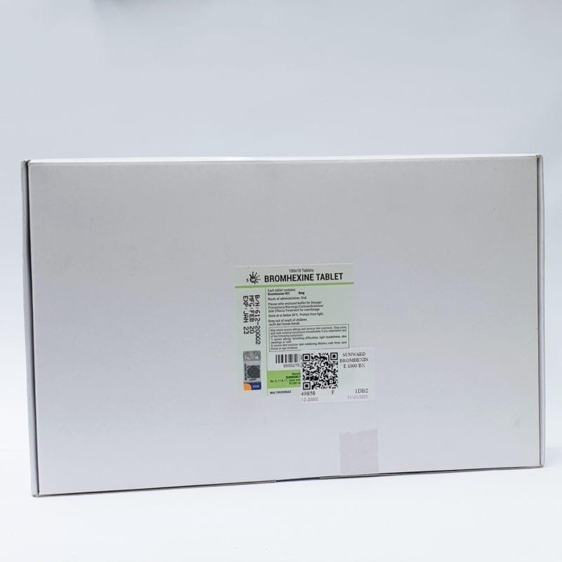 Sunward Bromhexine Tablet 10x100s