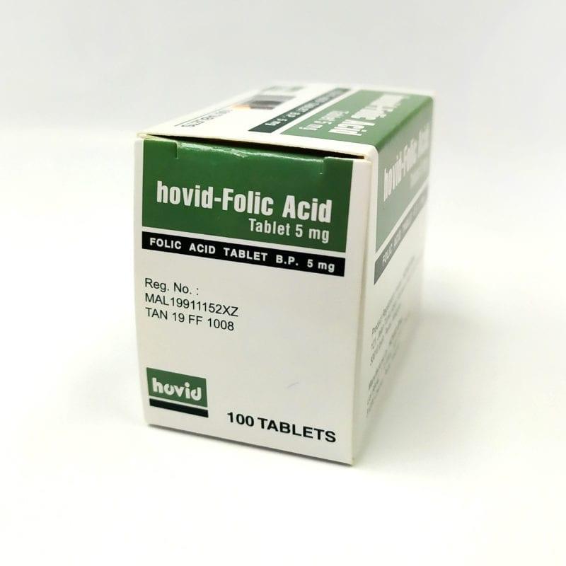 Hovid Folic Acid 5mg 10x10s