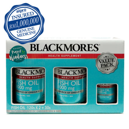 Blackmores Fish Oil 1000 2x120s W/free 30s