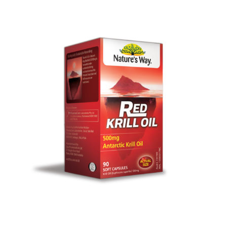 Natures Way Red Krill Oil 500mg 90s (exp 3/2021)