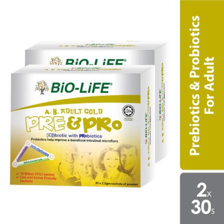 Bio-Life AB Adult Gold Prebiotic with Probiotic 2.5g 2x30 sachet
