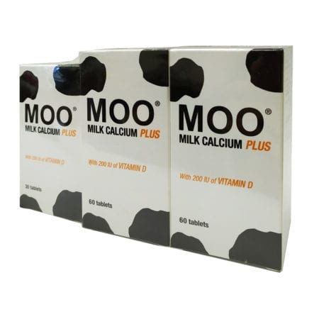 Thc Moo Milk Calcium Plus 1600mg 2x60s With 30s