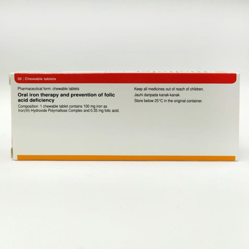Maltofer Chewable+folic Acid 30s