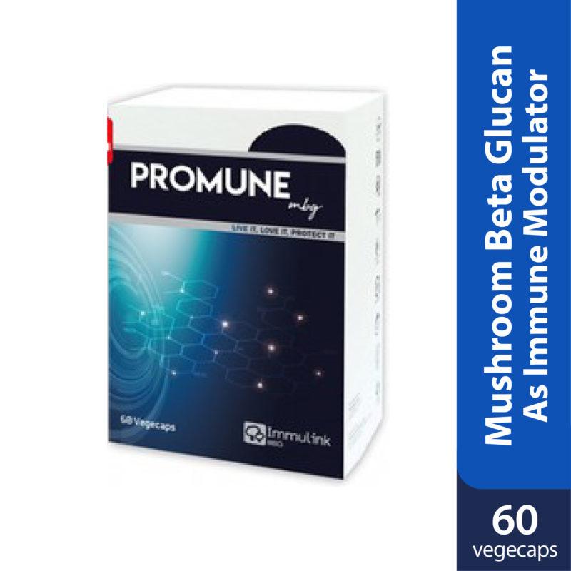 Promune MBG contains Mushroom Beta Glucan as immune modulator.