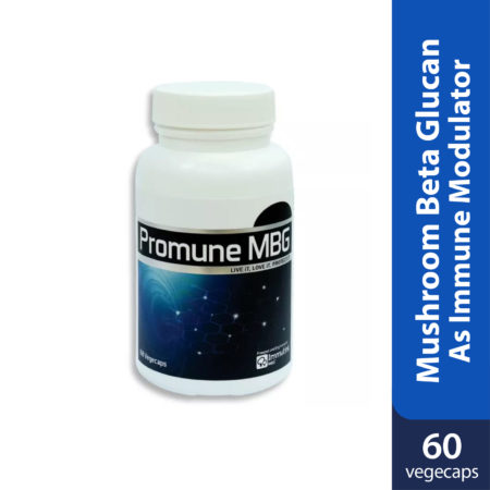 Promune MBG contains Mushroom Beta Glucan as immune modulator.