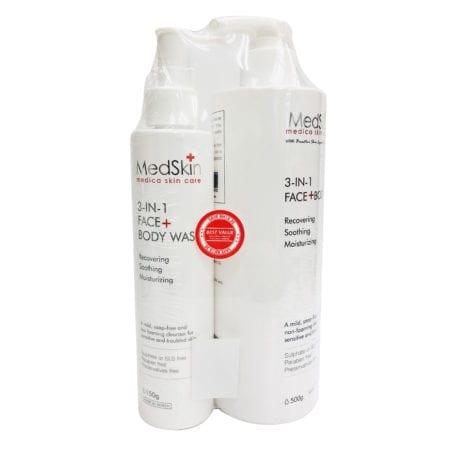 Medskin Face & Body Wash 500ml+150ml