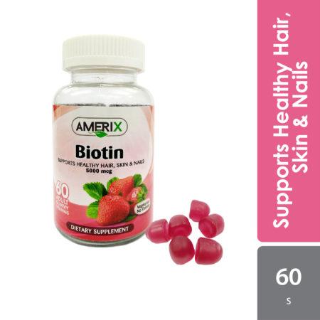 Amerix Biotin Gummy 5000mcg 60s