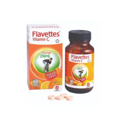 #flavettes Vit.c 250mg Sugar Free Orange 60s