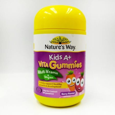 Natures Way Kids A+ Vita Gummies Multi+vegies 60s