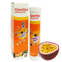 Flavettes Vit.c 1000mg Effervescent Passion Fruit 15s