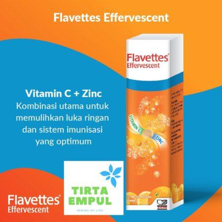 Flavettes Vit.c W/zinc Effervescent Orange 15s
