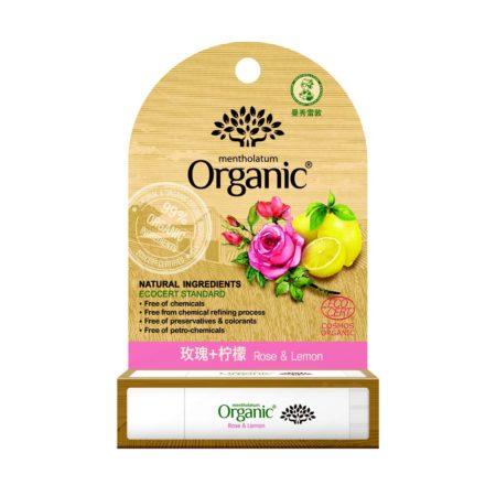 Mentholatum Organic Lipbalm Rose & Lemon 3.5g