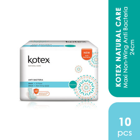 Kotex Natural Care Maxi Non-wing Anti Bacteria 24cm 10s