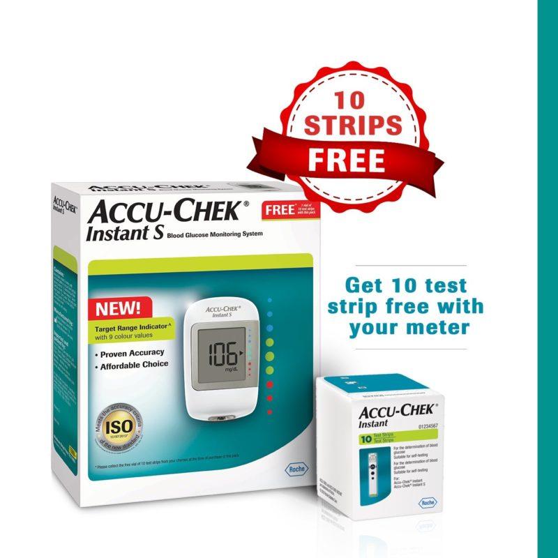 Accu-chek Instant S Starter Kit With 10 Test Strips