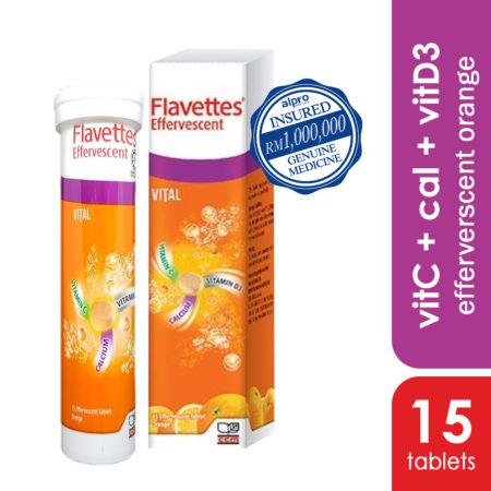 Flavettes Vital Effervescent Orange 15s