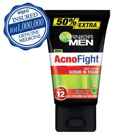 Garnier Men Acno Fight Anti-acne Scrub Foam (150ml)